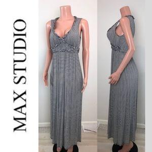 Max Studio Sleeveless Striped Maxi Dress S